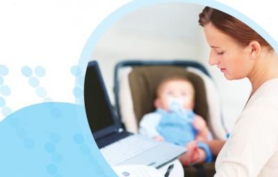 אם, מחשב ותינוק