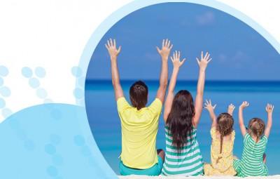 ילדים קטנים ומתבגרים בחופשה