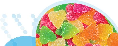 סוכריות גומי בצורת לבבות