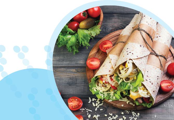 טורטיה עם ירקות וגבינה