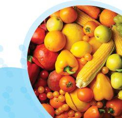פירות וירקות בצבעים